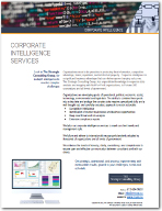 Corporate Intelligence Services